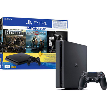 PlayStation 4 Slim 1Tb (Days Gone + God Of War + The Last of Us + PSPlus 3M) (9382102)