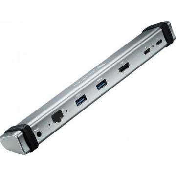 CANYON Docking Station with 7 ports, 2*Type C, Input 100-240V, Outp (CNS-TDS06DG)