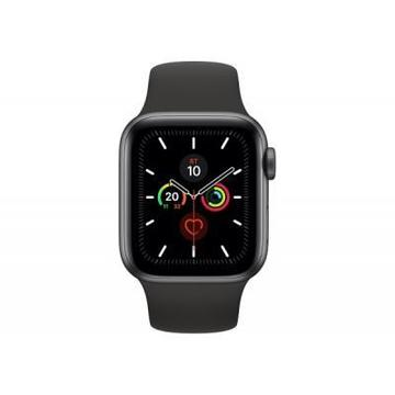 Apple Watch Series 5 GPS, 40mm Space Grey Aluminium Case with Blac (MWV82UL/A)