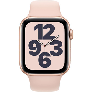 Apple Watch SE 44mm Gold Alu Pink Sand Sport Band GPS (MYDR2LL/A)