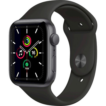 Apple Watch SE 44mm SpaceGray Alu Black Sport Band GPS (MYDT2LL/A)