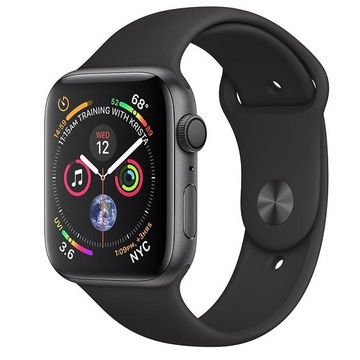Apple Watch Series4 40mm GPS SpaceGray Aluminum Case with Black Sport Band (MU662)