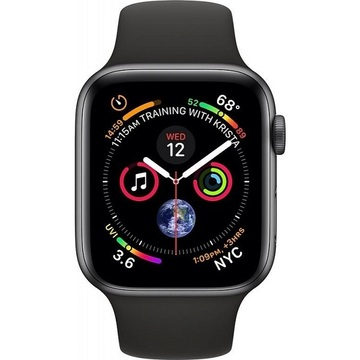 Apple Watch Series4 44mm GPS SpaceGray Aluminum Case with Black Sport Band (MU6D2)