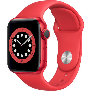 Apple Watch Series 6 GPS, 40mm (RED) Sport Band (M00A3)