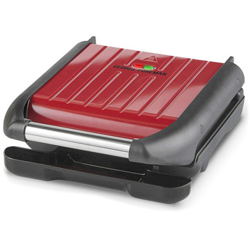 George Foreman 25030-56 Compact Steel Grill Red