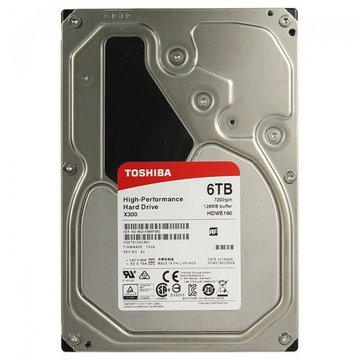 Toshiba High-Performance X300 6TB 7200rpm 128MB 3.5 SATA III (HDWE160UZSVA)