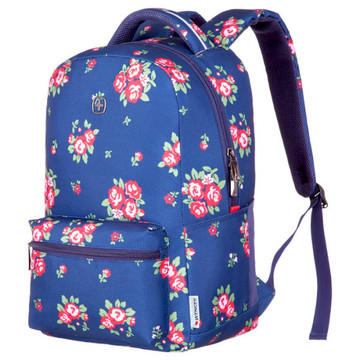 "Wenger Colleague 16"" Navy Floral Print"
