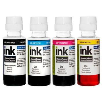 CW HP Ink Tank 115/315/415 BK/С/M/Y (CW-HP51/HW52SET01) 4*100мл