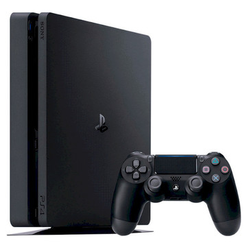 Sony PS4 Slim 1Tb Black + 3-месячная подписка PSPlus + 3 игры (Detroit, Horizon Zero Dawn, The Last Of Us)