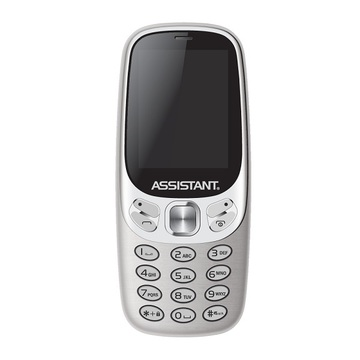 Assistant AS-203 Dual Sim Silver