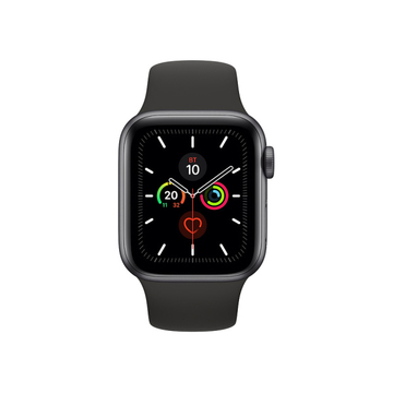 Apple Watch Series5 44mm Space Gray  Aluminium Case with Black Sport Band GPS