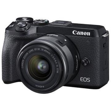 Canon EOS M6 Mark II + 15-45 IS STM + EVF Kit Black (3611C053)